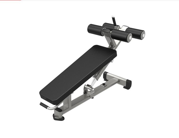 军霞JX-3036可调式腹肌椅 健身房下斜杠铃推举凳 商用仰卧起坐腹肌板卧推训练登