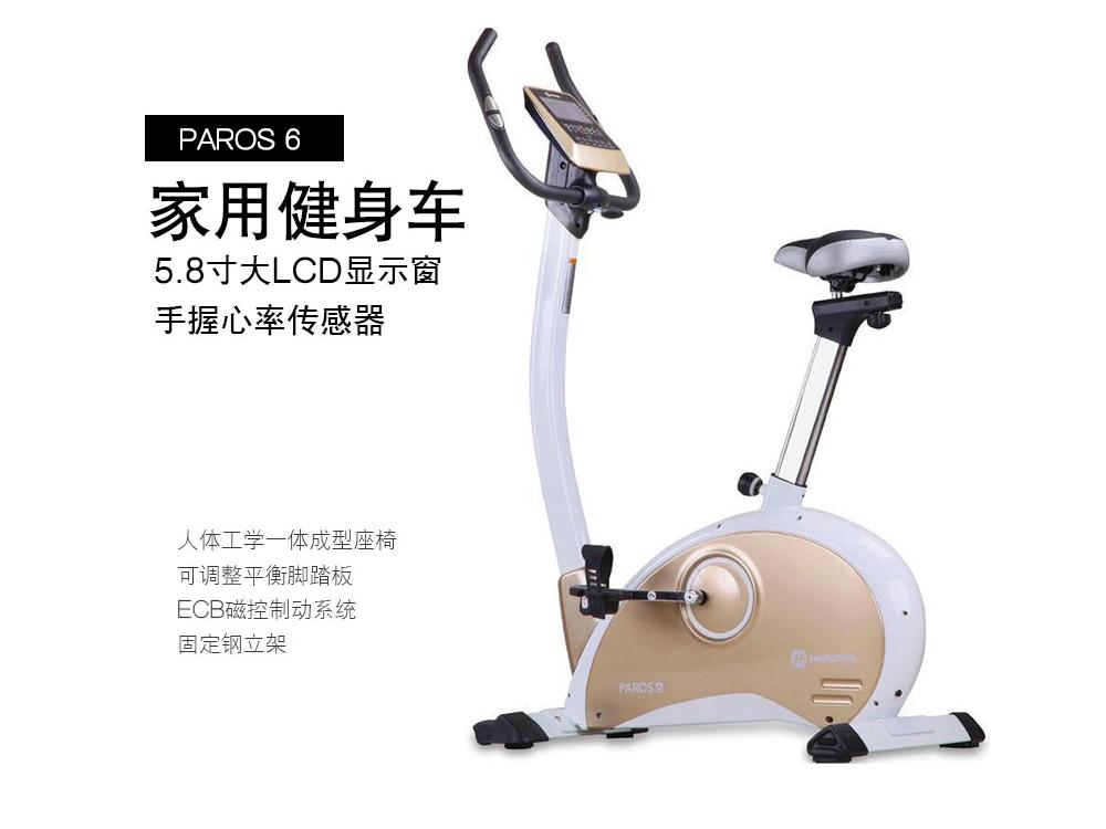 乔山健身车yabo90磁控静音土豪金升级款Paros6时尚健身器材