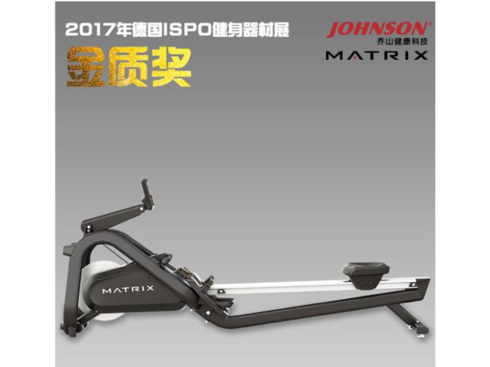 乔山划船机商用款新品MATRIX ROWER 电磁阻力装置 健身器材