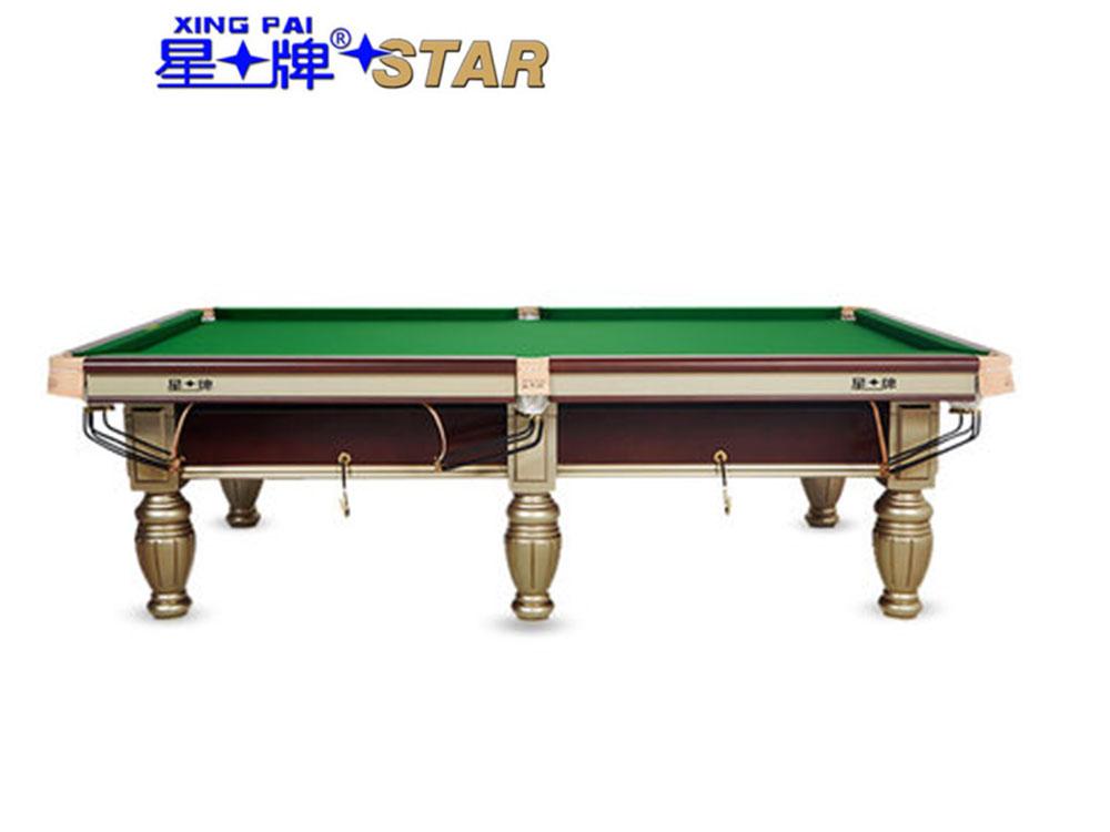 星牌 台球桌 XW119-9A中式黑八俱乐部比赛球台