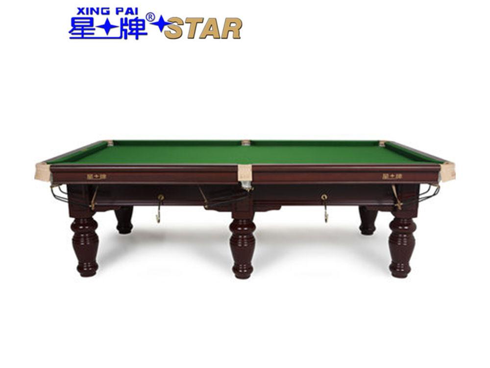 星牌 台球桌 XW117-9A中式黑八钢库球台