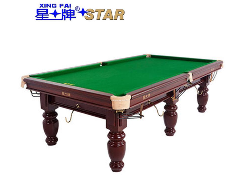 星牌 台球桌 XW118-9A中式黑八球台